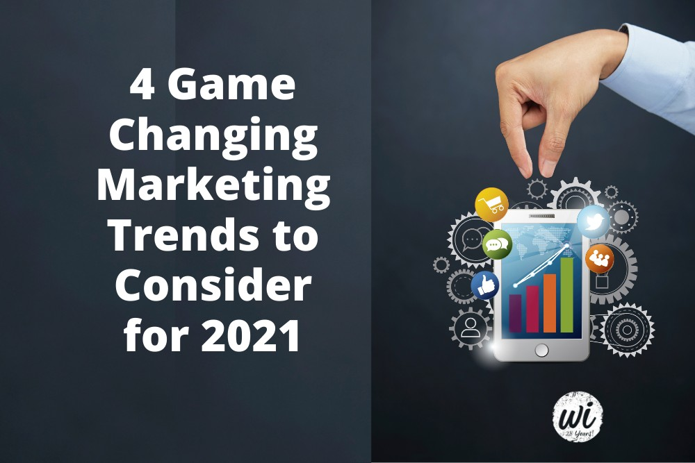 4 Game Changing Marketing Trends to Consider for 2021
